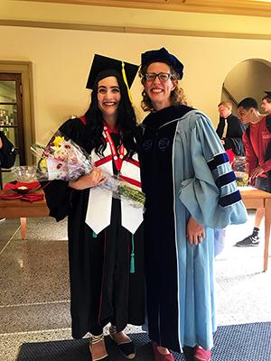 Lexie and Prof. Sue Ridgely